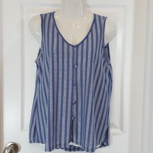 W5 Anthropologie Tank Top Buttons